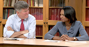 Pictured: David Kennedy and Condoleezza Rice