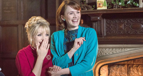 Pictured: Barbara (CHARLOTTE RITCHIE) and Trixie (HELEN GEORGE)