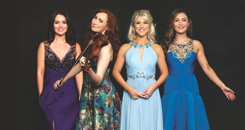 Pictured: Celtic Woman (l-r): Máiréad Carlin, Tara McNeill, Susan McFadden and Éabha McMahon.