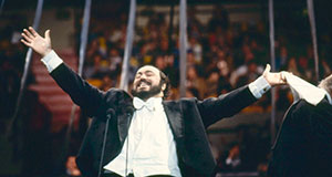 Pictured: Pavarotti at Madison Square Garden