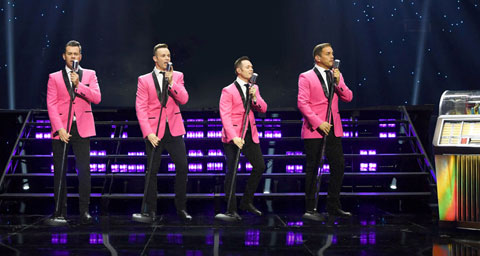 Pictured: Human Nature in concert at the Venetian Theater in Las Vegas.