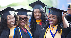 Pictured: Recent graduates of Morgan State University, Maryland.