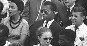 Pictured: James Baldwin in the crowd. March on Washington for Jobs and Freedom, 28 August 1963