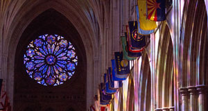 Pictured: LeCompte is best known for The West Rose window located in Washington National Cathedral. Photo credit: Peter Swanson