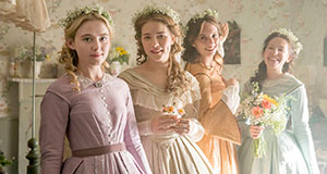 Pictured: (Left-Right): Kathryn Newton as Amy, Willa Fitzgerald as Meg, Maya Hawke as Jo, and Annes Elwy as Beth.