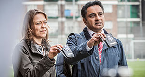 Pictured: Nicola Walker as DCI Cassie Stuart and Sanjeev Bhaskar as DS Sunny Khan