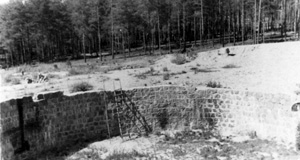 Pictured: Ponary, Poland, the unfinished fuel tank site, which was used as an execution site for Jews from the Vilna region.