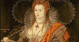 Pictured: Portrait of Queen Elizabeth I in a dress covered in eyes and ears which represents her spy network.