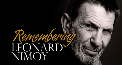 Pictured: Program title graphic with portrait of Leaonard Nimoy.