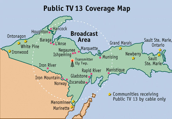 TV13 Coverage Map
