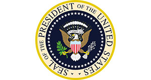 Pictured: Seal of the President of the United States.