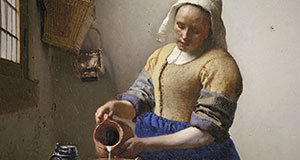 Pictured: Vermeer's painting, Milkmaid.