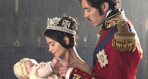Pictured: JENNA COLEMAN as Victoria and TOM HUGHES as Albert.