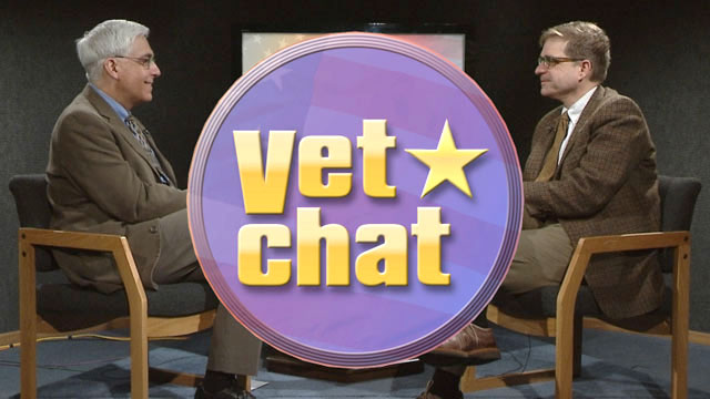 Pictured: Jason Allen and Eric Smith on the set of Vet Chat